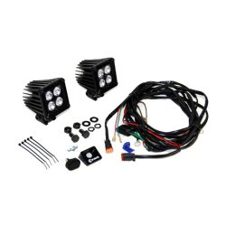 KC | 3″ CUBE DRIVING 20W LZR LED |  BLACK PAIR