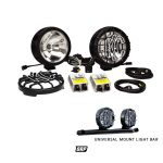 KC LIGHTS | 8″ LONG 50W K/C HID ROUND BLACK (PAIR) WITH UNIVERSAL LIGHT BAR