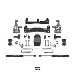 FABTECH |  6″ BASIC SYSTEM COMPLETE KIT WITH REAR SHOCKS – STEEL SUSPENSION | 2014-2018 GM 1500