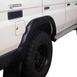 TJM   REAR FLARE DELUXE FIBREGLASS BLACK PAIR   LC 70 V8 2007+