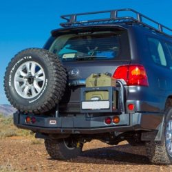 ARB | REAR BAR WITH JERRY CAN HOLDER LEFT SIDE AND SPARE TIRE CARRIER RIGHT SIDE | LC200